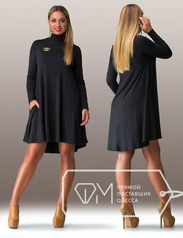 Красивое черное платье больших размеров